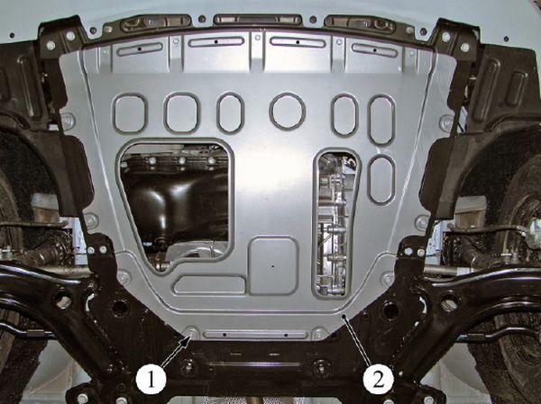 Брызговик двигателя