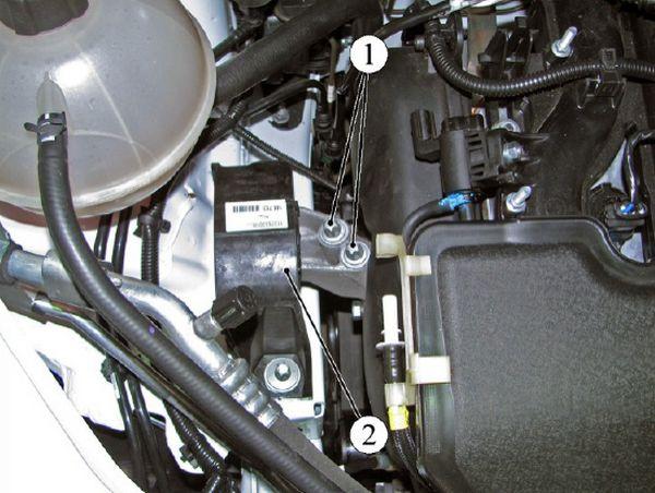 Правая опора подвески силового агрегата