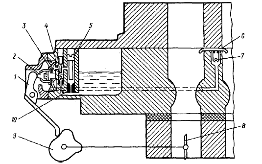 Схема УН карбюратора ВАЗ-1111