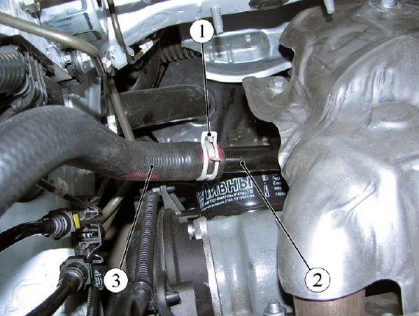 Шланг заправочный системы охлаждения двигателя